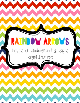 Rainbow Arrows Levels of Understanding (Target Inspired)