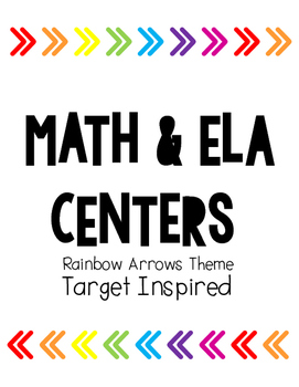 Rainbow Arrows Math & ELA Centers (Target Inspired)