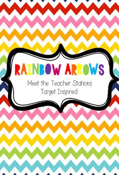 Rainbow Arrows Meet the Teacher Stations (Target Inspired)
