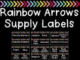 Rainbow Arrows Room and Supply Label Cards (Over 250+ Labels!)