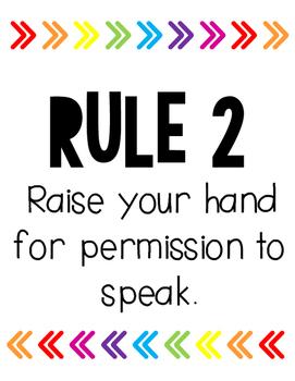 Rainbow Arrows Whole Brain Teaching Rules (Target Inspired)