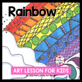 Rainbow Art Lesson for Kids (Emergency Sub Plans) Spring Art Project