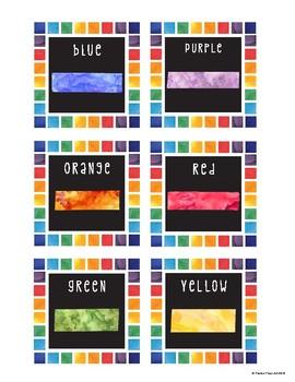 Rainbow Art Supply Labels  ** UPDATED**