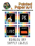 Black Rainbow Art Supply Labels