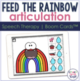Rainbow Articulation BOOM Cards™  | Speech Therapy