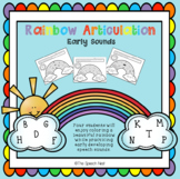 Rainbow Articulation:  Early Sounds - No Prep Worksheets