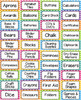 """Rainbow Avery Supply Labels- Includes Premade & Editable!: Label #8163 (2""""x 4"""")"""