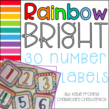 Rainbow BRIGHT Number Labels