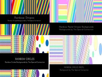 Rainbow Background Bundle