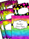 Rainbow Background Pages