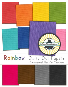 Rainbow Background Papers for Commercial Use {Dotty Embossed}