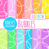 Rainbow Backgrounds / Digital Papers - Bubble Themed Clip Art Commercial Use