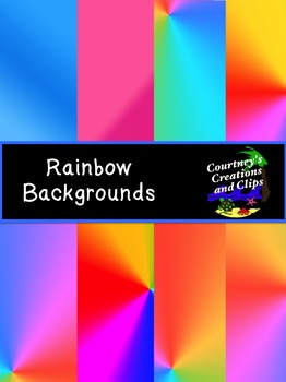 Rainbow Backgrounds- Freebie