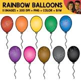 Rainbow Balloon Clipart