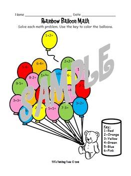 Rainbow Balloon Math