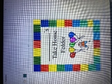 Rainbow Balloon Take Home Folder Cover