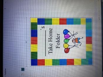 Rainbow Balloon Take Home Folder Cover