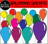 Rainbow Balloons Clipart | Celebrations and Birthday Clipa