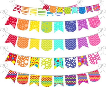 Rainbow Banner - Digital Clip Art Graphics for Personal/Commercial Use (134)