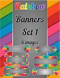 Rainbow Banners Clip Art Set 1