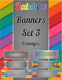 Rainbow Banners Clip Art Set 3