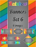 Rainbow Banners Clip Art Set 6