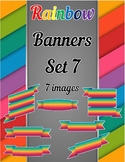 Rainbow Banners Clip Art Set 7