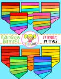 Rainbow Banners Clipart