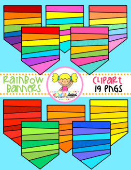 Rainbow Banners Clipart
