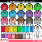Rainbow Barns and Silos Clip Art