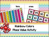 Rainbow Base Ten Place Value Activity. Kindergarten-2nd Gr