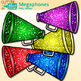 Rainbow Megaphones Clip Art {Sports Equipment for Physical Education}