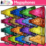 Rainbow Megaphones Clip Art {Sports Equipment for Physical