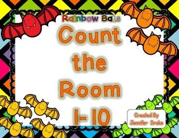 Rainbow Bats Count the Room 1-10