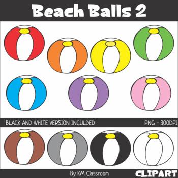 Rainbow Beach Balls 2 Clip Art