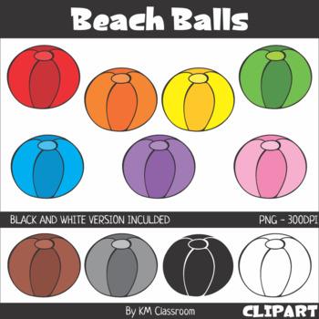 Rainbow Beach Balls Clip Art