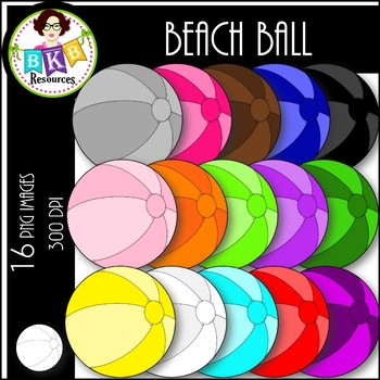 Rainbow Beach Balls ● Clip Art ● Products for TpT Sellers