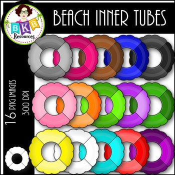 Rainbow Beach Inner Tubes ● Clip Art ● Products for TpT Sellers