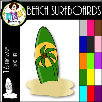 Rainbow Beach Surfboards ● Clip Art ● Products for TpT Sellers