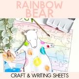 Rainbow Bear - Book Week Craftivity (Craft and Writing Activity)