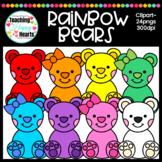 Rainbow Bears Clipart