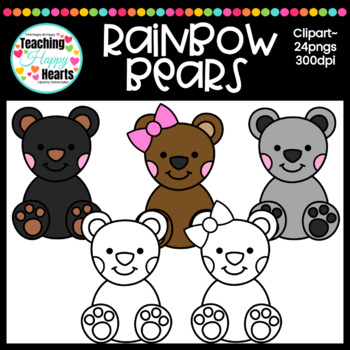 Rainbow Bears Clipart