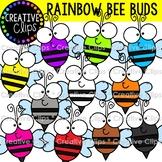 Rainbow Bee Buds {Bee Clipart}