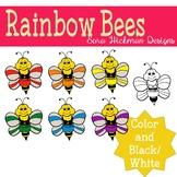 Rainbow Bee Clipart