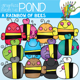 A Rainbow of Bees Clipart