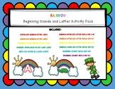 Rainbow Beginning Sound Match, Letter Match, & Letter & Be