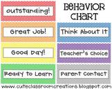 Rainbow Behavior Chart {FREEBIE}