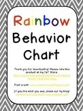 Rainbow Behavior Chart {Editable}