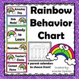 Rainbow Behavior Chart with Parent Calendars