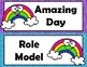 Rainbow Behavior Chart with Parent Calendars